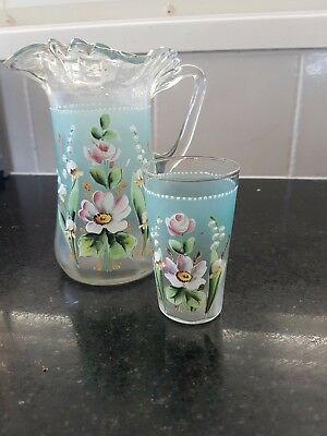 antique water jug and glass