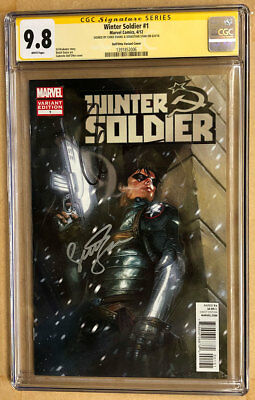 Winter Soldier 1 Variant Cover CGC SS 9.8 Signed by Chris Evans & Sebastian Stan