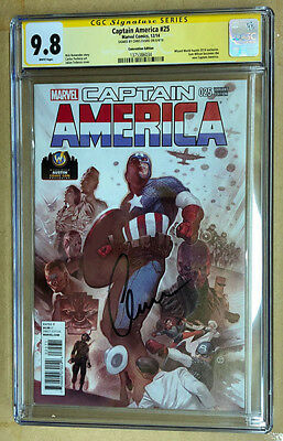 Captain America #25 WW Austin Exclusive CGC SS 9.8 Signed by Chris Evans
