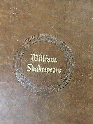 """The Complete Works of William Shakespeare, Leather Bound"""" a nice bit of history"""""""