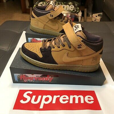 sneakers for cheap c12a9 675e1 NIKE SB DUNK Mid Lewis Marnell (Size 9.5) (Cappuccino/Bronze-Wheat)  (Aj1445-200)