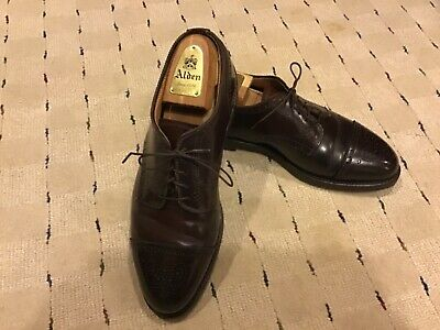 af4d8d0da94 Alden/Brooks Brothers Shell Cordovan Medallion Cap Toe Oxfords 8.5 D  Excellent