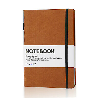 Invery Portable A5 PU Notebook Paper Hard Cover Diary Book Study Business Note