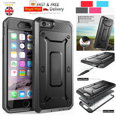 Heavy Duty Hard Shock Proof Rugged Builder Case Cover For iPhone 6S Plus 7 SE 5S