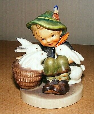 Hummel Figurine 'playmates'(Boy With 3 Rabbits)Tmk-3 Height 4-1/2""