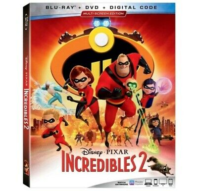 Incredibles 2 (Blu-ray Disc 2018) New!