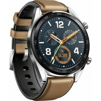 Huawei Watch GT-B19V Classic Smartwatch Saddle Brown Edelstahl Fitness-Tracker