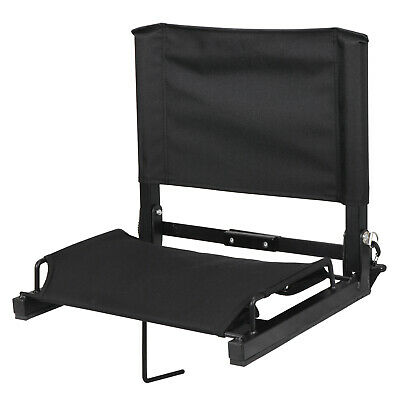 Stadium Seat Chairs With Backs and Cushion Folding Portable Shoulder Straps