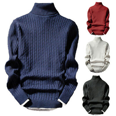 Men's Thermal Cotton Turtle Neck Sweater Turtleneck Sweaters Tops T Shirt