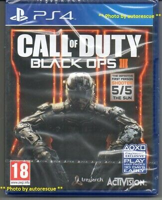 Call of Duty Black Ops III (3)  'New & Sealed'   *PS4(Four)*