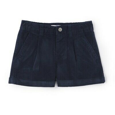 LA REDOUTE GIRLS CORDUROY SHORTS NAVY AGE 5 YEARS NEW (ref 385)