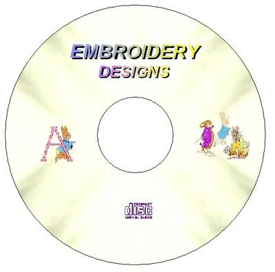 Peter Rabbit & Alphabet Embroidery 60 Designs On Cd Pes