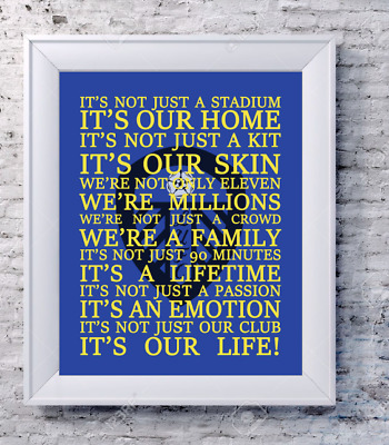 CHELSEA FOOTBALL CLUB Lyrics Words Song Print Picture Gift