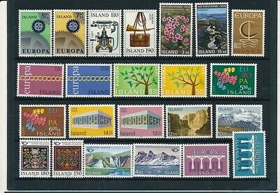 D245978 Iceland Nice selection of MNH stamps