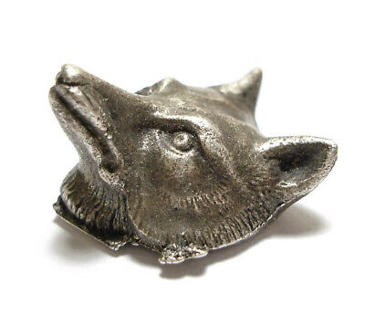 Beautiful Small Vintage Or Antique Silver Fox Unfinished Jewellery Piece Af (A4)