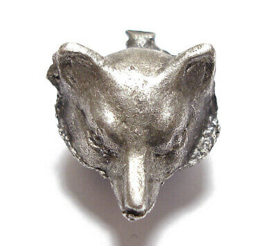 Beautiful Small Vintage Or Antique Silver Fox Unfinished Jewellery Piece Af (A7)