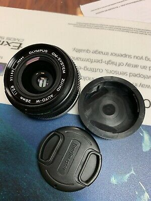 Olympus OM-SYSTEM Zuiko Auto-W 28mm f/2.8 Wide Angle OM Lens Prime Excellent