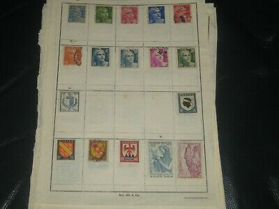 france stamps on album pages
