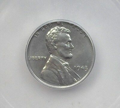 1943 Lincoln Wheat Cent  Icg Ms66+