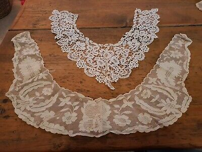 Antique Set Of Applique Lace Collars (2)