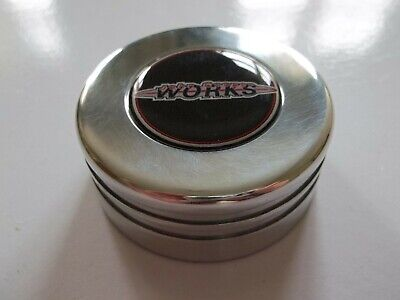 BMW Mini R50 R52 R53 Cooper Billet Alloy Expansion Cap Cover JCW Logo