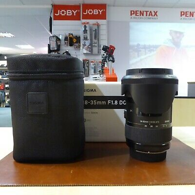 Used Sigma DC 18-35mm f1.8 'Art ' lens in Pentax fit - 1 YEAR GTEE