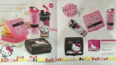 Tupperware Hello Kitty Lunch set 4 pcs Limited edition