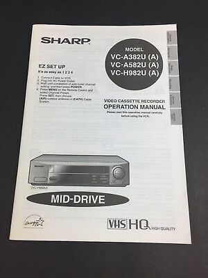 sharp vcr manual tracking