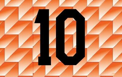 #10 (Gullit) Holland Netherlands Euro 1988 Home Football Nameset for shirt
