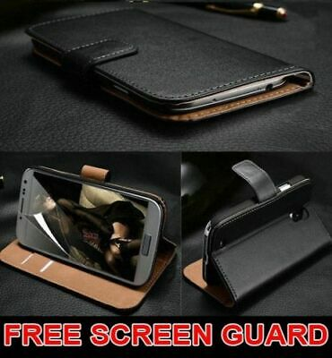 Luxury Genuine Real Leather Flip Case Wallet Cover For Samsung Galaxy S10 S9 S8