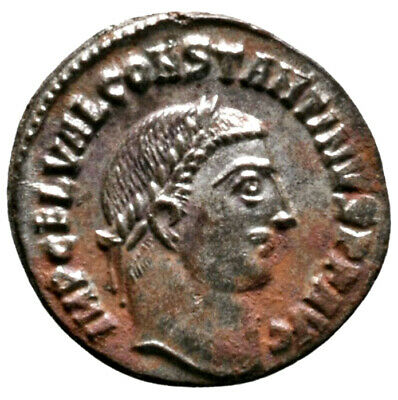 CONSTANTINE THE GREAT (316 AD) Rare Follis. Alexandria #IU 1573