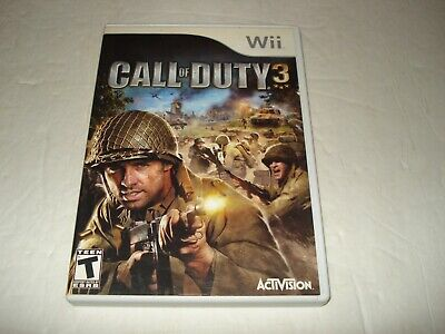 Call of Duty 3 (Nintendo Wii, 2006) Activision Teen Video Game (D)