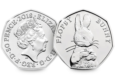 New 2018 collection 50p Flopsy Bunny Beatrix Potter