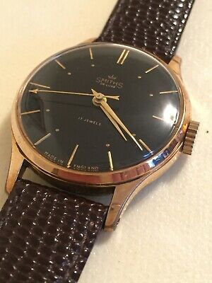 Vintage 1950s / 60s Smiths Gents De Luxe Deluxe watch - NOS Perfect Condition