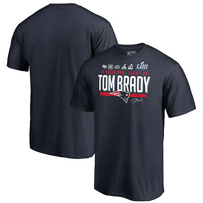 Tom Brady New England Patriots NFL 6-Time Super Bowl Champions Hometown T-Shirt