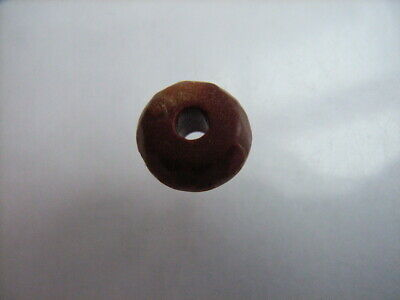 1 Ancient Neolithic Red Jasper Bead, Stone Age TOP!  RARE !!