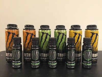 Monster Energy Hitman Nitrous Empty Twist Cans Discontinued Killer B Super Dry
