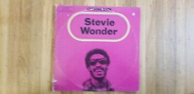 Stevie Wonder Looking Back Triple NM Vinyl LPs G+ Record Cover Punch hole / cut