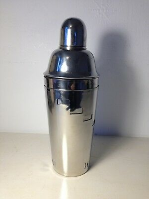 Stainless steel cocktail shaker with recipes
