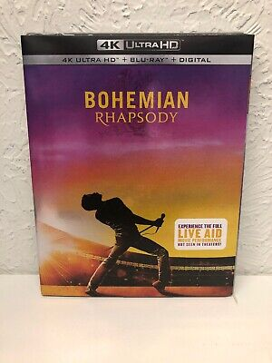 BOHEMIAN RHAPSODY 2019 4K Ultra HD+Blu-Ray+Digital HD BRAND NEW SEALED!!