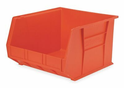 "Akro-Mils Hang and Stack Bin, Red, 18"" Outside Length, 16-1/2"" Outside Width,"