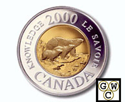 2000 Family of Bears Proof $2 Silver Coin (10863)