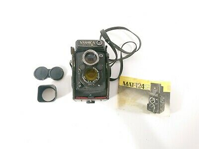Yashica Mat 124G Camera with Manual, Case, Accessories - For Parts or Repair