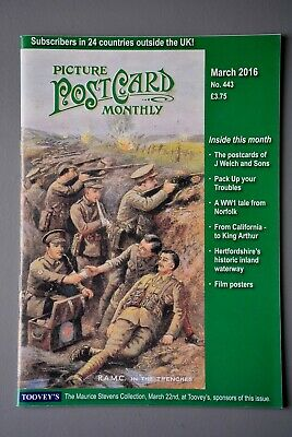 R&L Mag: Picture Postcard Monthly March 2016 J Welch/WW1 Comic/Film Posters