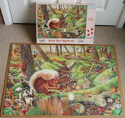 Jigsaws & Puzzles 1000 Piece Jigsaw Puzzle Save Our Squirrels The