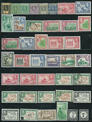Fiji - 41 old stamps mixed - Years 1912 to 1951 - Kings & B.O.B.