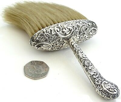 Antique 1891 Victorian Sterling Silver Table Crumb Brush By Cs Fs Of Chester