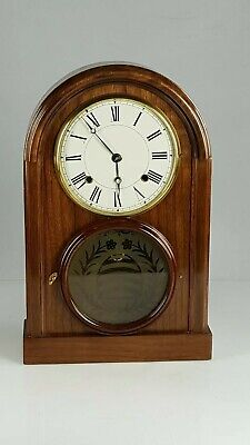 American 8 Day Walnut Mantle or Shelf Clock Working order