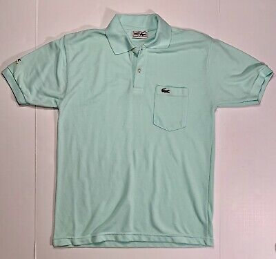 d2f3c8bb7ddf Vintage Chemise Lacoste Mens Mint Green Polo Shirt Made In France Size XL