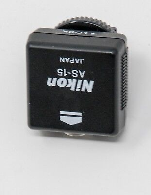 103c49636b NIKON AS-15 SYNC Terminal Adapter (hot shoe to PC) -  7.99